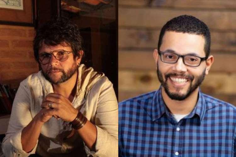 Caê Guimarães (à esquerda) e Tônio Caetano (à direita) são os vencedores do Prêmio Sesc de Literatura 2020 (Foto: Arquivo Pessoal)