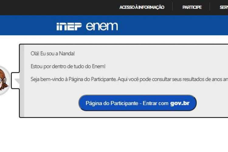 Enquete Enem 2020: estudante pode votar no site no Inep para escolher a nova data da prova (Foto: Reprodução/ Site Inep)