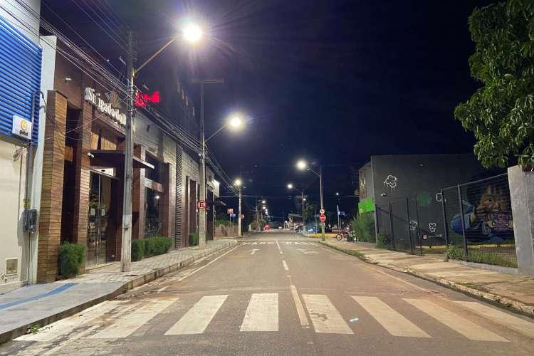 Ruas vazias em Juazeiro do Norte (Foto: Wesley Júnior/Especial para O Povo)