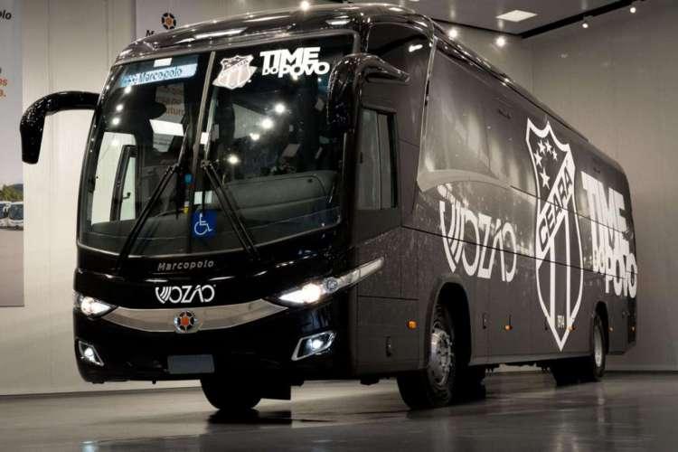 Novo ônibus da delegação do Ceará  (Foto: Divulgação/Ceará )