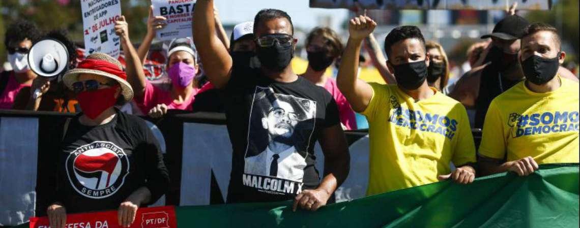 Protesto contra Jair Bolsonaro em Brasília