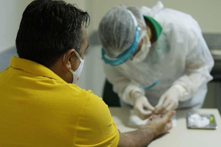 TESTE na clínica do Sesi de Maracanaú  (Foto: Barbara Moira)