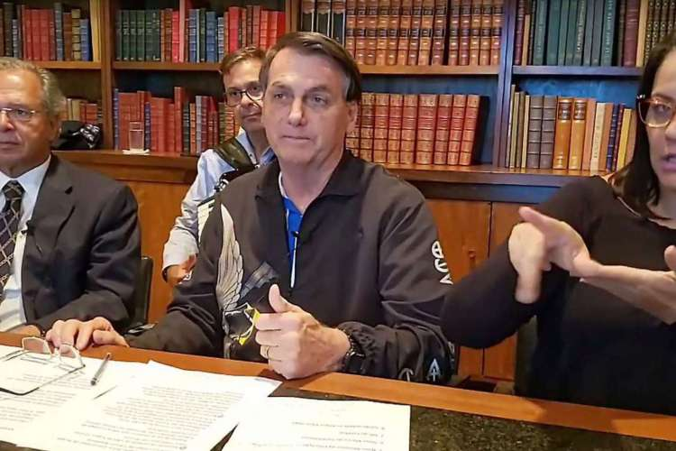 Bolsonaro ao lado de Paulo Guedes. (Foto: Reprodução/ Rede Social )