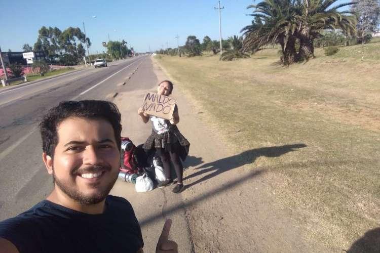 Casal Bruno Costa e Ana Caroline viajou pela América do Sul com pouco dinheiro (Foto: Arquivo pessoal)
