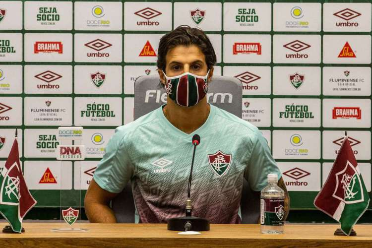 Hudson falou em entrevista coletiva virtual  (Foto: Lucas Merçon/Fluminense)