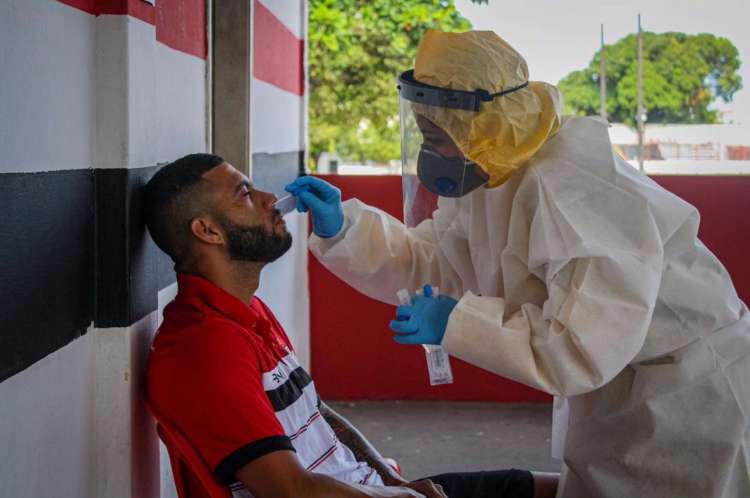 Testagem aconteceu na Vila Olímpica Elzir Cabral, na última quinta-feira, 25, com jogadores, e na quarta-feira, 24, com comissão técnica