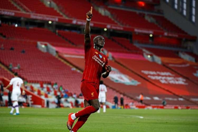 Com 15 gols na Premier League, Sadio Mané foi fundamental para conquista dos Reds (Foto: AFP)