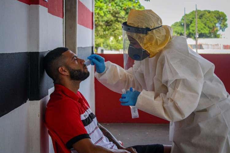Testagem aconteceu na Vila Olímpica Elzir Cabral  (Foto: Lenílson Santos/Divulgação/Ferroviário)