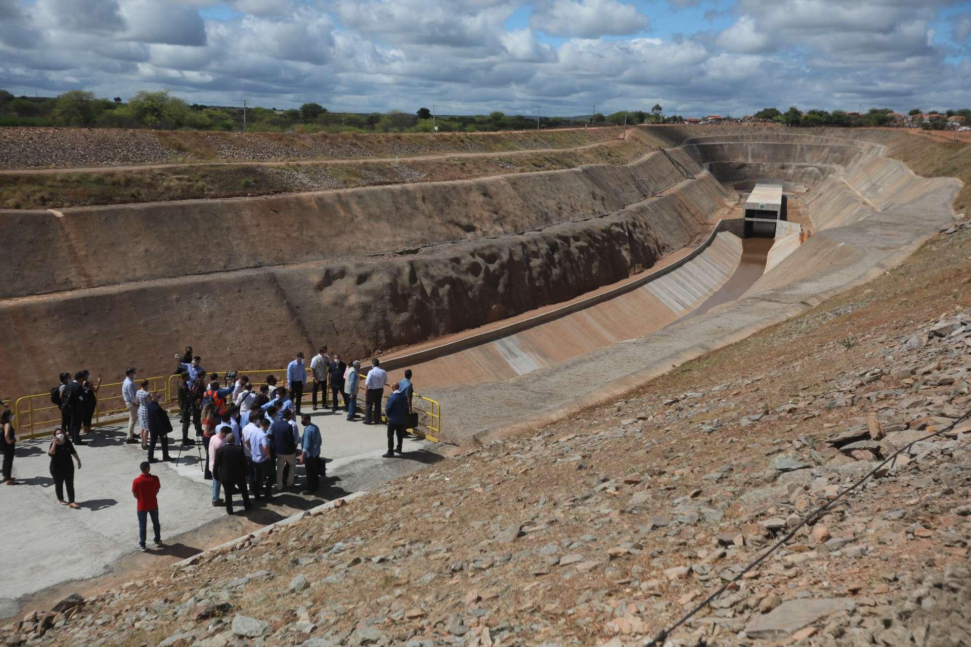 Na foto, águas do Rio São Francisco chegam ao município de Penaforte, a 545 km de Fortaleza