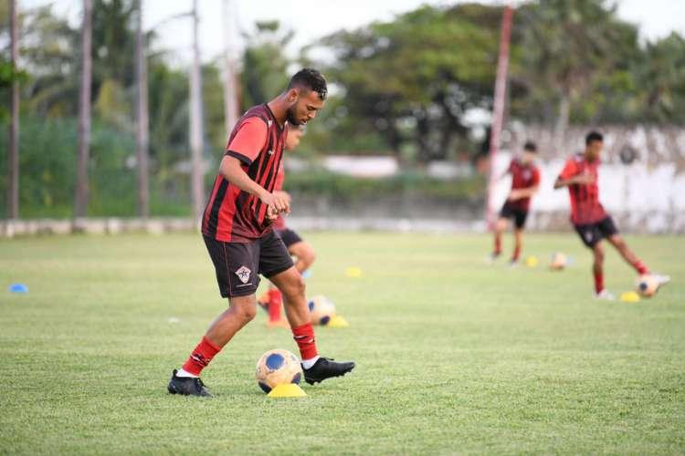 Jogadores do Atlético-CE já fazem trabalhos físicos e técnicos, como treinos de condução, passe e velocidade (Foto: (Divulgação/Atlético-CE))