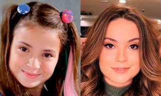 Antes e depois da atriz Raissa Chaddad, que viveu a Bia em Chiquititas (Foto: Reprodução)