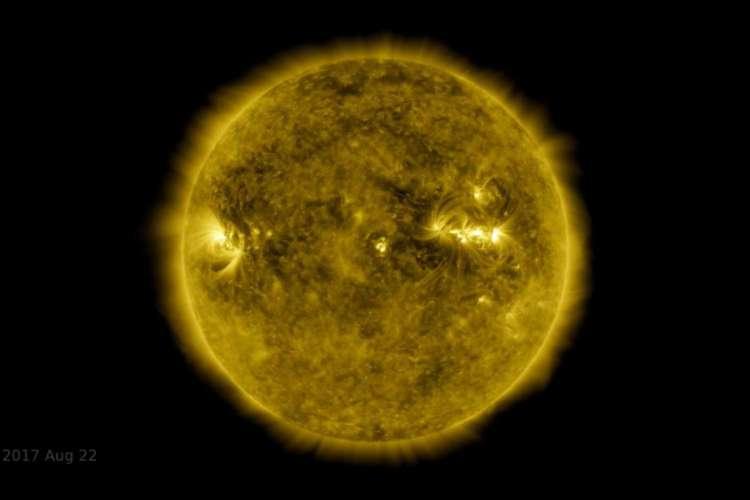 Recortes do vídeo trazem as erupções solares e eclipses ao longo de uma década (Foto: Divulgação/Nasa)