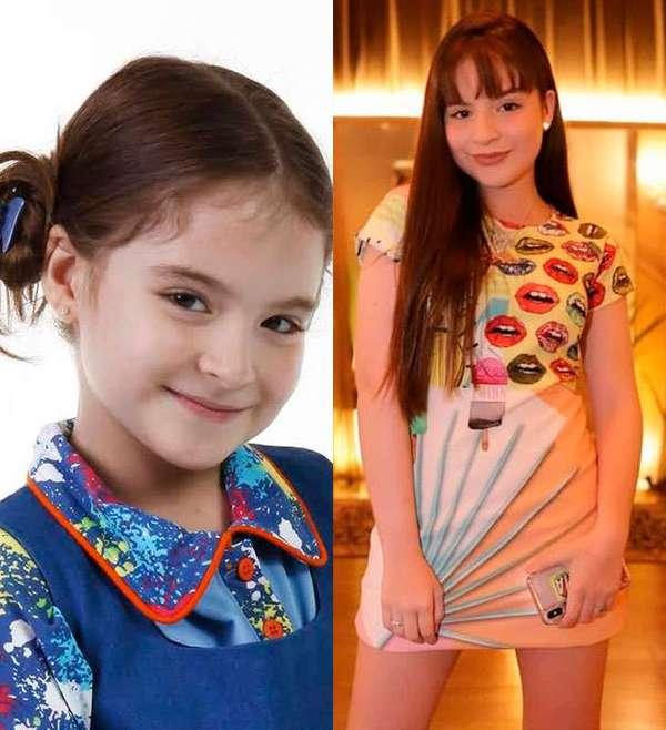 Antes e depois de Sophia Valverde, que interpretou a órfã Maria