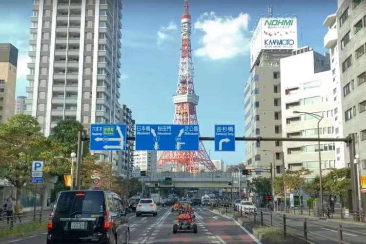 Uma das paisagens de Tokyo, no Japão, apresentadas no site (Foto: Reprodução/YouTube)