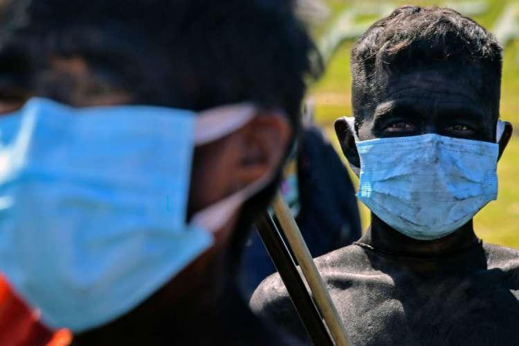 Roraima, em 30 de junho de 2020, Os membros do grupo étnico Ye 'Kuera indígena estão no 5º Pelotão da Fronteira Especial em Auari, em meio à nova pandemia de coronavírus COVID-19. (Foto de NELSON ALMEIDA / AFP) (Foto: NELSON ALMEIDA / AFP)