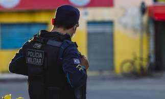 FORTALEZA-CE, BRASIL, 02-07-2020: Movimentação no Bairro Edson Queiroz com Policiais Militar, em epoca de COVID-19. (Foto: Aurélio Alves / O Povo)