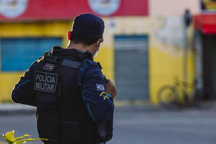 Após o crime em Caucaia, a PM foi acionada. (Foto: Aurelio Alves/ O POVO)