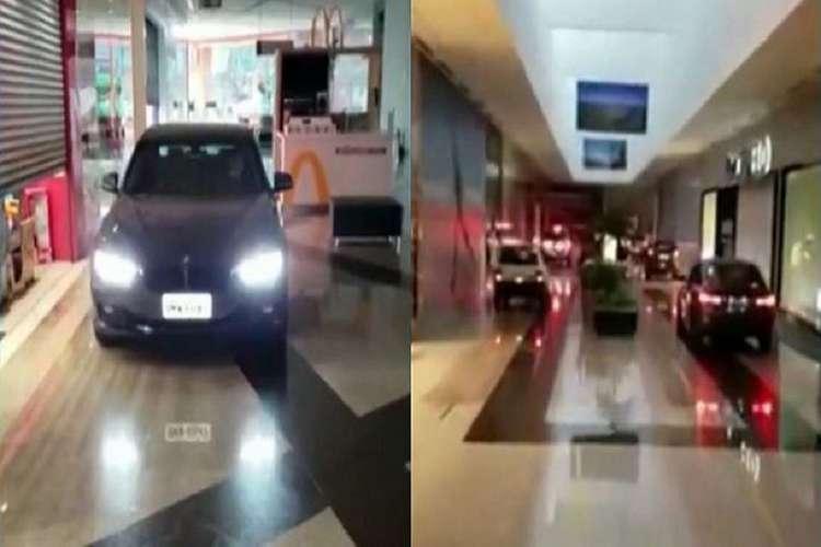 O drive-thru no shopping de SP está liberado somente para a retirada das compras (Foto: Reprodução)