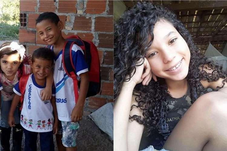 Duas meninas têm 11 e 5 anos, enquanto meninos têm 3 e 7. (Foto: Reprodução / Correio da Cidade)