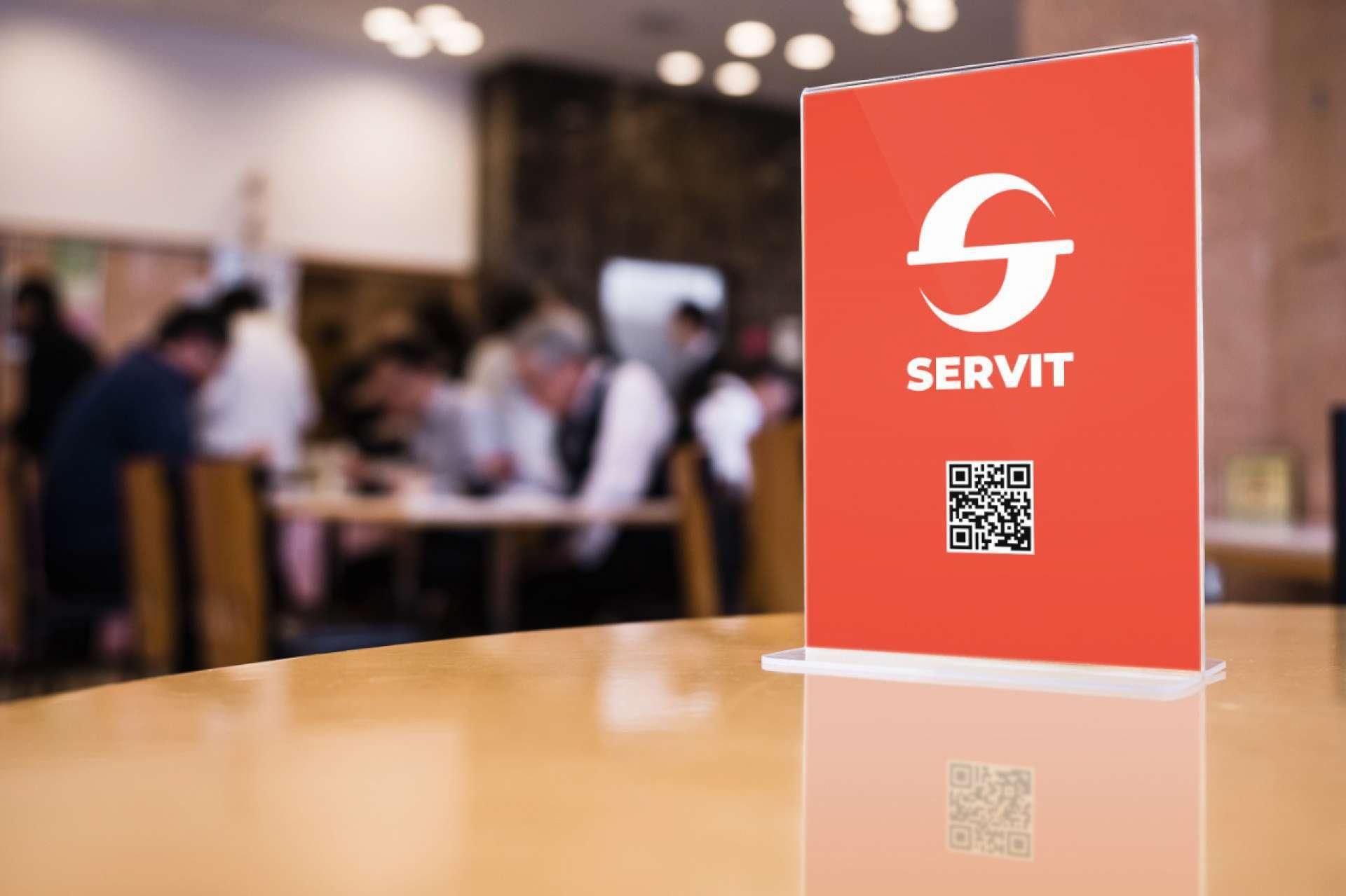 Com o Servit, através do QR Code no centro de mesa do estabelecimento, o cliente tem o controle total do seu pedido