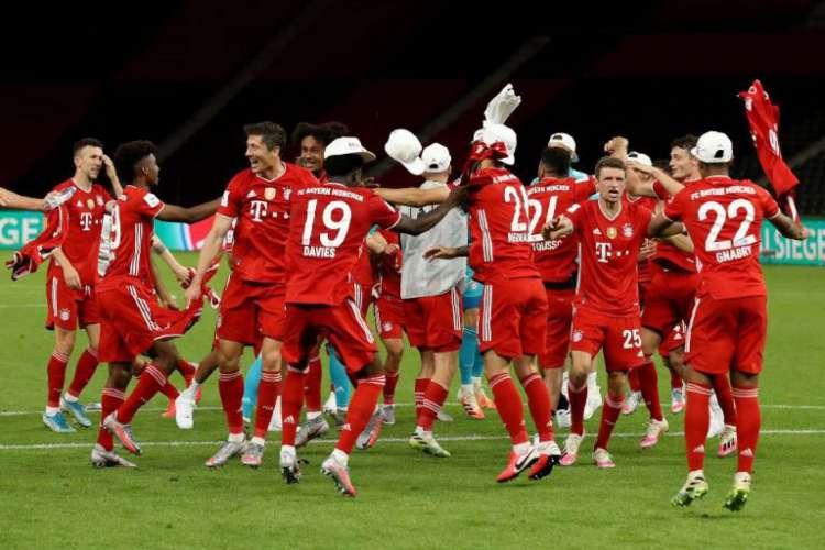 O Bayern de Munique é campeão da Copa da Alemanha 2019/2020 (Foto: AFP)