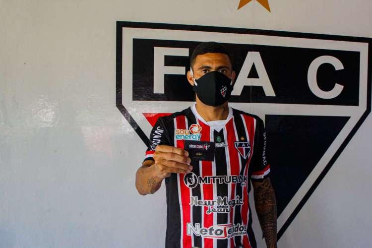 Wellington Rato renovou seu contrato com o Ferroviário até o fim de 2020 (Foto: Divulgação/Ferroviário AC)