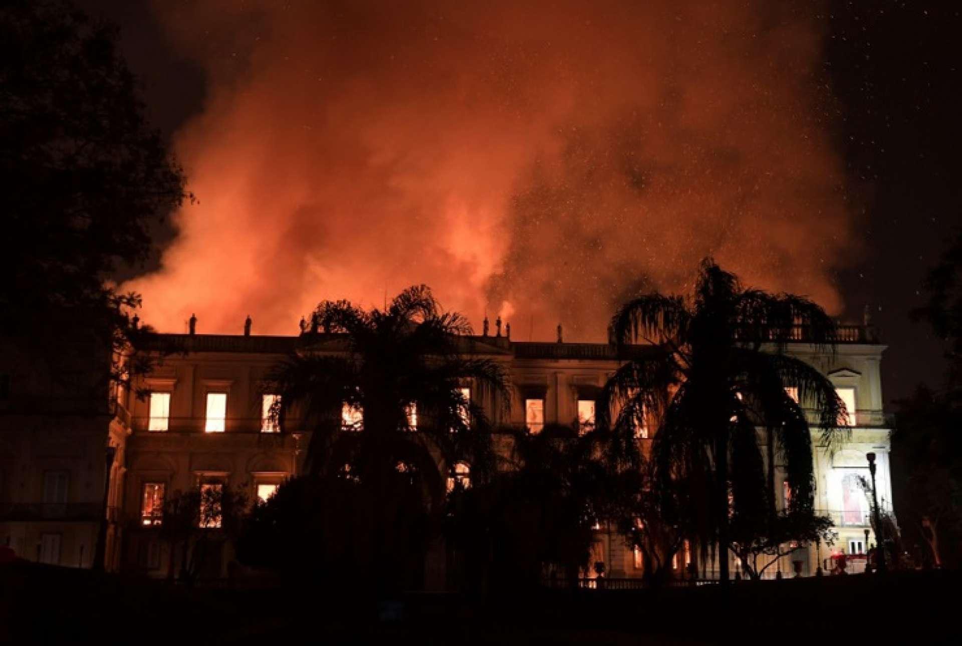 Incêndio no Museu Nacional, no Rio de Janeiro. Fogo foi considerado acidental