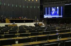 Sessão Deliberativa Remota do Congresso Nacional (Foto: Pedro França/Agência Senado)