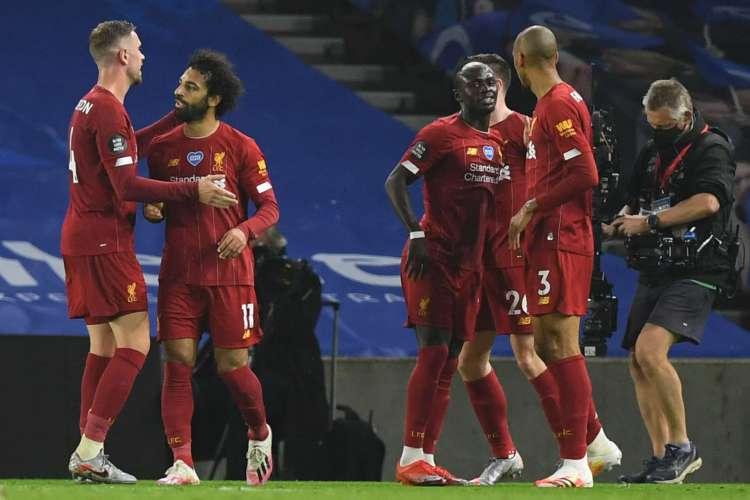 Liverpool venceu Brighton, por 3 a 1, pela 34ª rodada da Premier League (Foto: AFP)