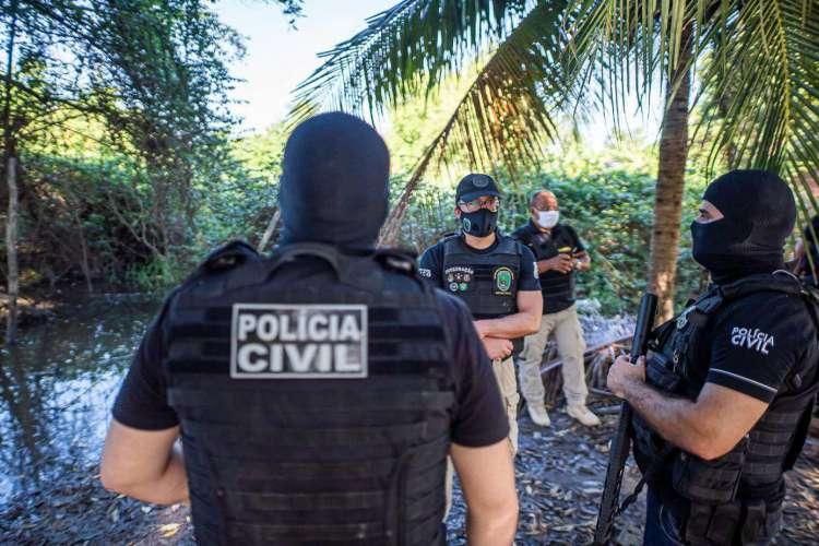 Imagens da operação realizada nesta terça-feira, 7 em Teresina (Foto: Divulgação/SSPDS)