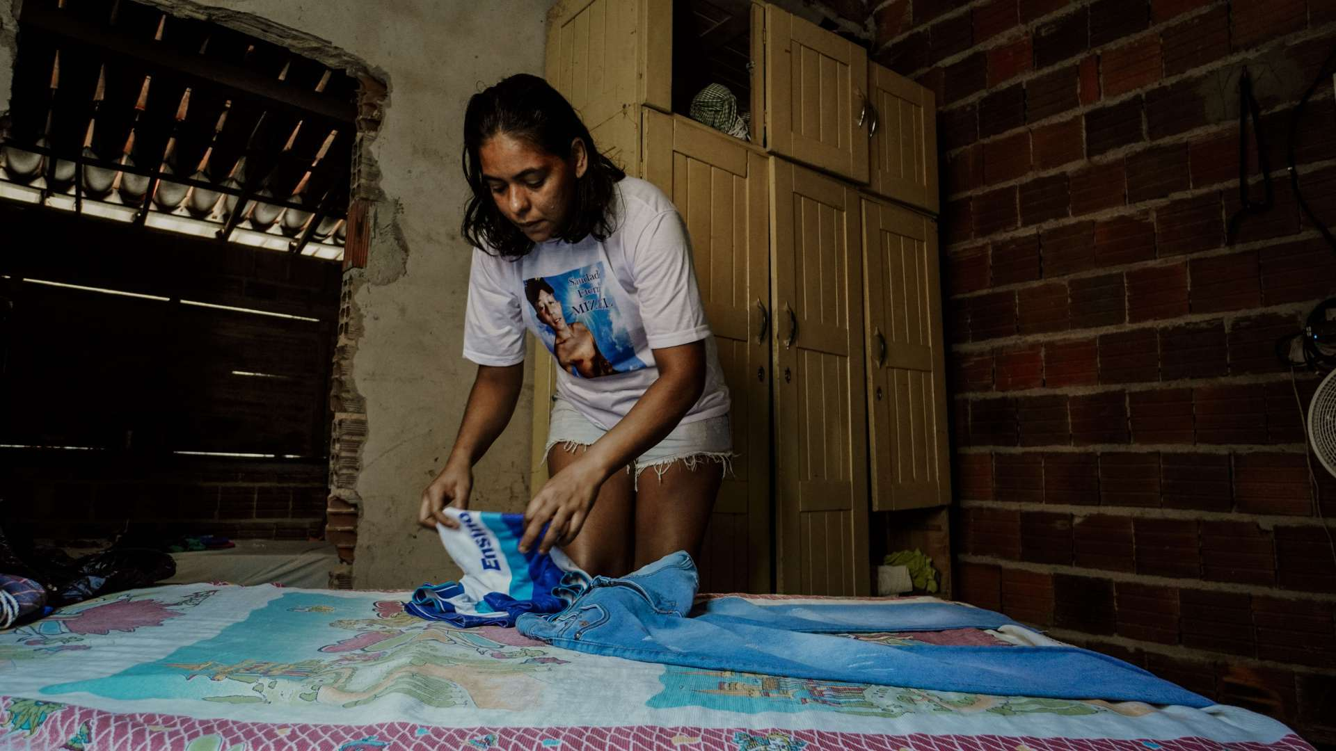 Leidiane Rodrigues da Silva, 33, mãe de Mizael Fernandes