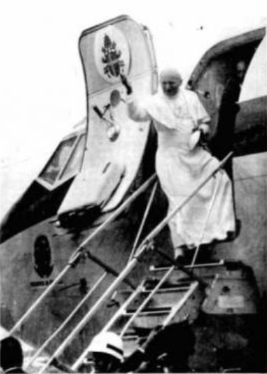 João Paulo II ao se despedir de Fortaleza, em 10 de julho de 2020