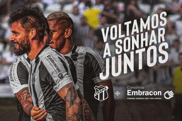 Este é o segundo patrocinador que o Alvinegro anuncia nas duas últimas semanas  (Foto: Divulgação/Ceará)