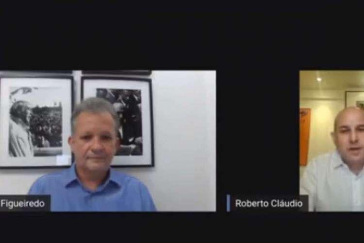 André Figueiredo e Roberto Cláudio anunciaram processo (Foto: REPRODUÇÃO/FACEBOOK)