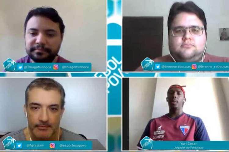 Futebol do Povo desta sexta-feira, 17, recebeu Yuri César, atacante do Fortaleza  (Foto: Reprodução/Facebook)