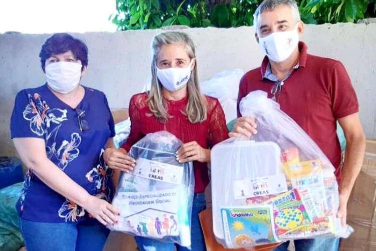 Entrega de kits contra Covid-19 para Creas (Foto: Divulgação)