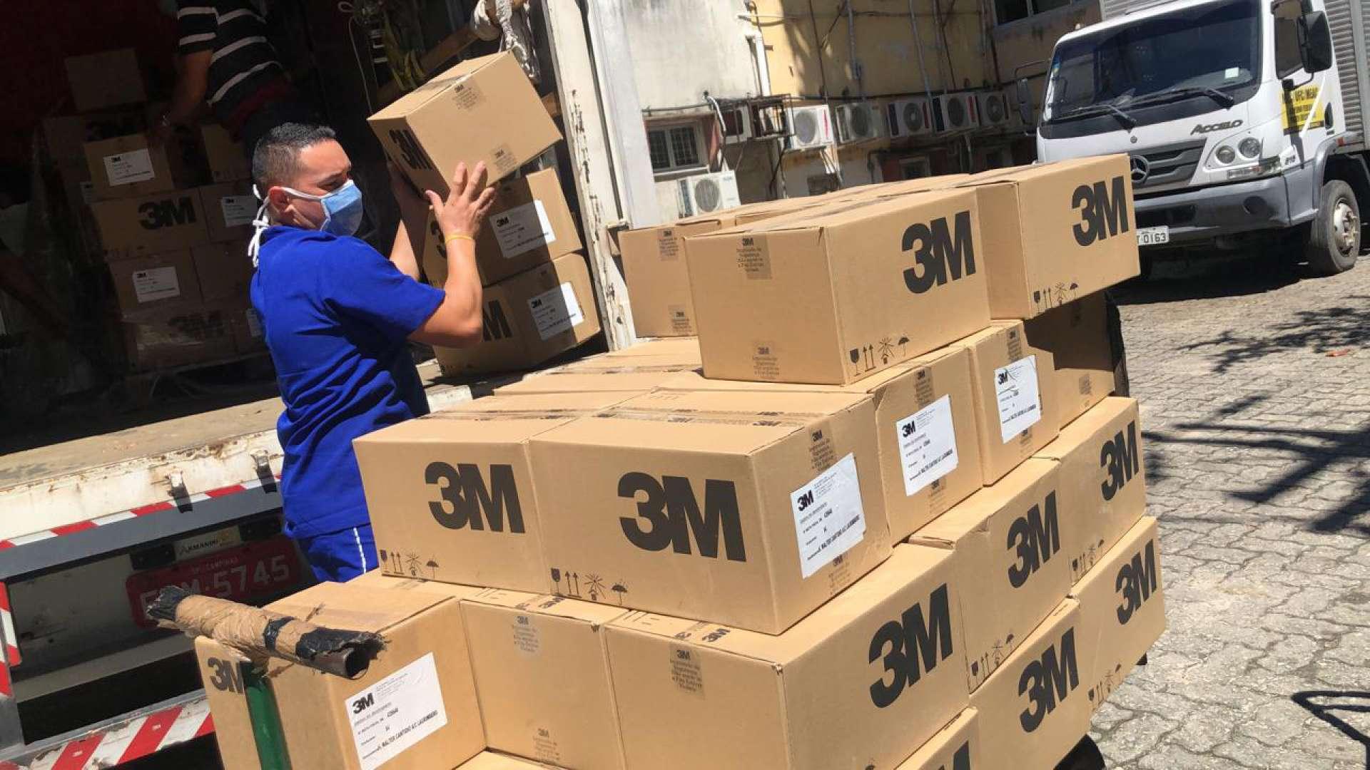 A 3M doou 14 mil máscaras ao Hospital Walter Cantídio, da UFC (Foto: DIVULGAÇÃO)