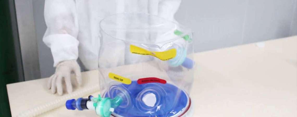 O capacete de respiração assistida está em fase de testes em pacientes internados no Hospital desde o final de junho, e pode tratar casos leves e moderados de Covid-19
