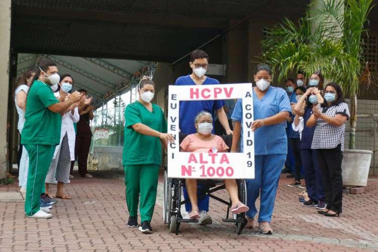 Hospital de Campanha do estádio Presidente Vargas dá alta ao paciente de número mil (Foto: Barbara Moira)