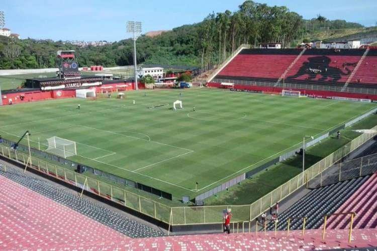 Estádio Barradão, em Salvador, receberá rodada dupla, no sábado, 25 (Foto: Divulgação/EC Vitória )
