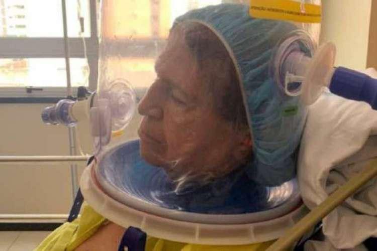 Aposentada teve alta hospitalar após uso do capacete Elmo (Foto: Divulgação/ Esp-CE)