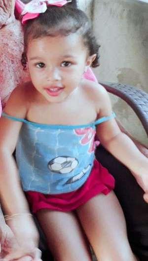 Maria Ester, de três anos de idade, foi morta e apresentava lesões em todo o corpo  (Foto: reprodução/arquivo pessoal )