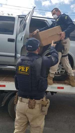 A ocorrência foi encaminhada à superintendência da Polícia Federal em Fortaleza (Foto: Divulgação/PRF)