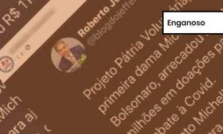 Tuíte de Roberto Jefferson foi verificado pelo Projeto Comprova, do qual O POVO faz parte