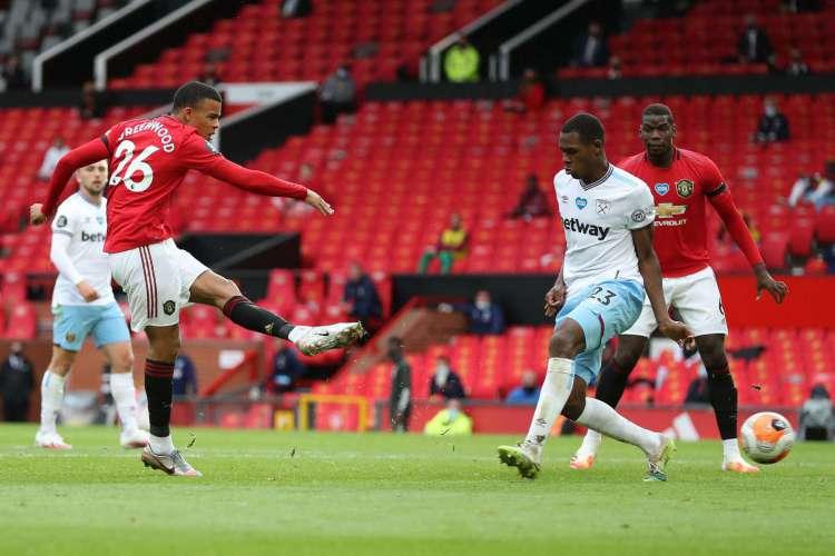 Manchester United e West Ham ficaram no empate em 1 a 1, no Old Trafford (Foto: AFP)