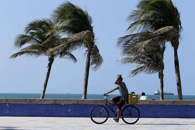 Fortaleza registrou ventos com 41,76 km/h (Foto: Camila de Almeida em 25/07/2019)