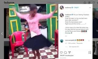 """Madonna publica vídeo de brasileira Marina Silva de Manaus dançando """"Holiday"""" de sua autoria"""