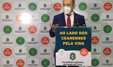 23.07.2020. Assembleia Legislativa do Ceará volta a ter sessão presencial com medidas de segurança sanitária.