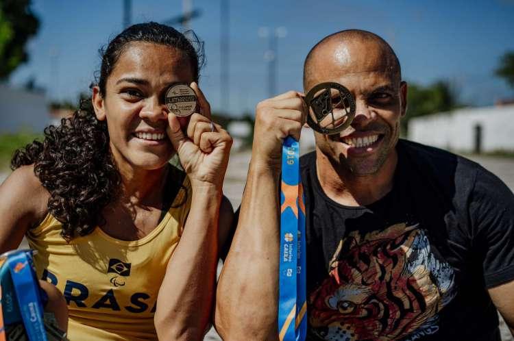 Clariene e Elione são paratletas com histórico de medalhas no paratletismo