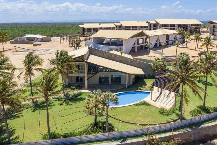 O Hard Rock Hotel Fortaleza está sendo construído na praia da Lagoinha, no município cearense de Paraipaba  (Foto: Jarbas Oliveira)